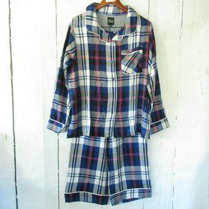 Plush Apparel Revolve Pajama Set Plaid Top Pants